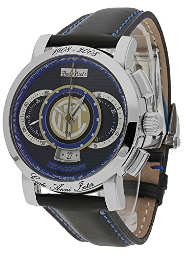 Paul Picot Herren-Armbanduhr Technograph FC Internazionale Limited Edition Chronograph Datum Analog Automatik P0334.SG.3401-INTER (Luxus-uhren, Limited Edition)