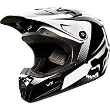 Fox Racing Imperial Youth V1 Off-Road Motorcycle Helmet - Black/White / Small by Fox Racing