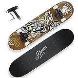 Sefulim Skateboard Mädchen Skateboard Erwachsene - No Rules Skateboard Komplett Mit ABEC-7 Kugellager und 95A Rollenhärte Stabil PU-Rollen
