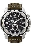 Timex Expedition Sierra T49626 - Reloj cronógrafo de caballero de cuarzo con correa de piel verde