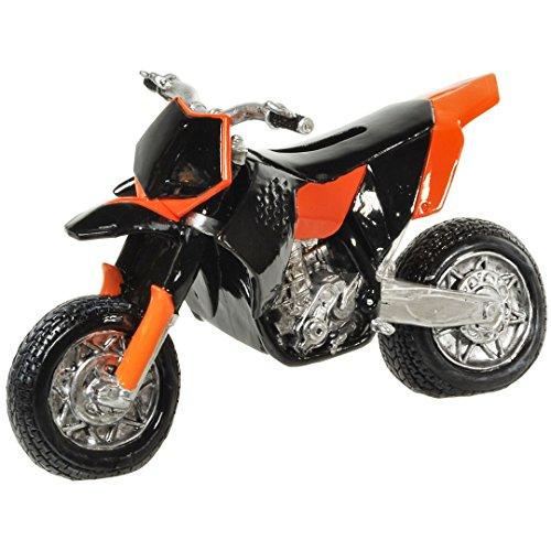 Spardose,Sparbüchse Motorrad Motorcross aus Polyresin