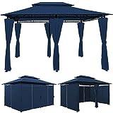 Tonnelle Topas Bleu - Pavillon Tente de jardin Barnum 4x3m Extérieur Fête