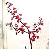 TianWlio Künstliche Seide Gefälschte Blumen Pflaumenblüte Blumen Hochzeit Bouquet Party Decor