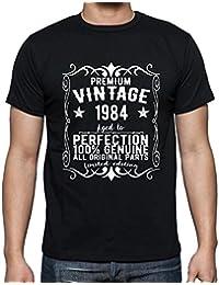 Premium Vintage Year 1984, tshirt homme anniversaire, homme anniversaire tshirt, millésime prime tshirt homme, cadeau homme t shirt