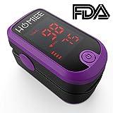 HOMIEE Finger Pulsoximeter Fingeroximeter Digitaler rotierenden LCD Bildschirm Messen Sauerstoffgehalt