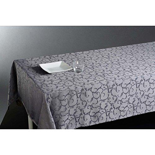 Nappe rectangulaire (L300 cm) Jacquard Gris