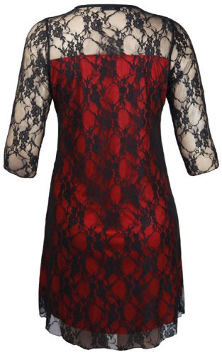 Xclusive PlusDamen Kleid Mehrfarbig Mehrfarbig Mehrfarbig - Black/Red
