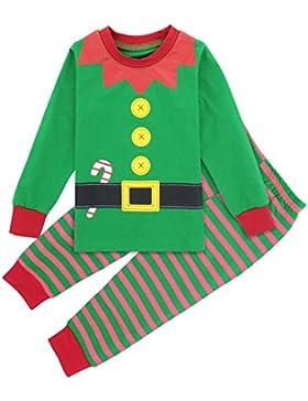Mombebe Pijama Navidad Bebé Niño Infantil Invierno Duende Ropa Set Manga Larga