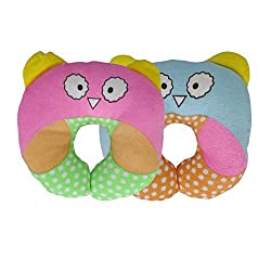 Aarushi Just Born Baby Pillows U Shape for Infant Soft Sleep Pillows Pack of 2