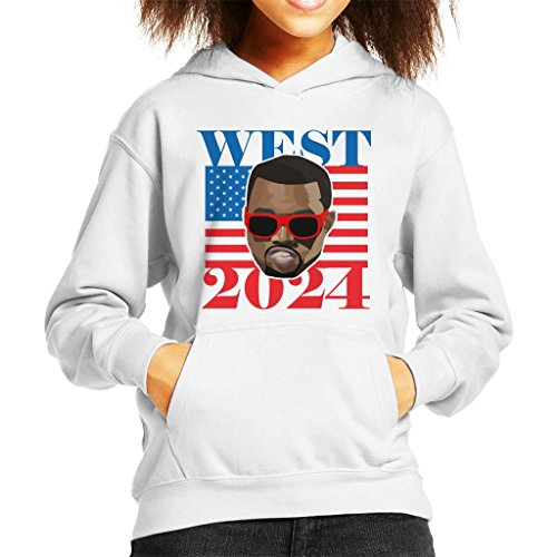 Cloud City 7 Kanye West 2024 President Kid\'s Hooded Sweatshirt