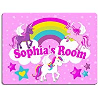6939595476 KRAFTYGIFTS UNICORN Girls Bedroom Door Sign Personalised Children s Child  Room Kids Plaque Name KD21