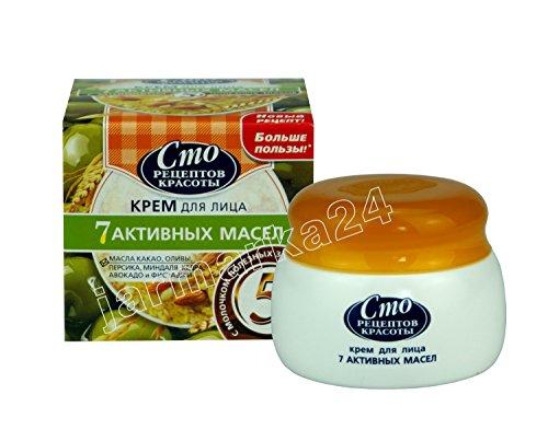 Gesichtscreme 100 Rezepte der Schönheit Kakao- Mandeln- Creme- Pfirsich- Kiefer- Pistazien- Avocado-Öl