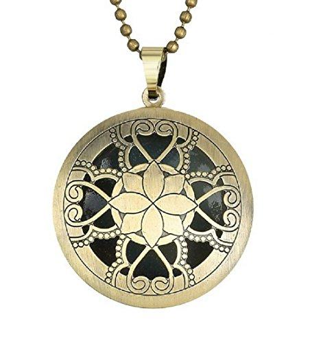 Inception Pro Infinite ♕ Damen Halskette mit Anhänger mit Sunlight-Luminescent Medaille Hellblau im Dunkeln Leuchten (Bronze Leuchte)