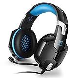 Zuoao Gaming Headset Kopfhörer Surround Sound USB PC Kopfhörer mit Lautstärkeregelung,Flexiblem Mikrofon für Film,Komputer Spiele,Tablets,Laptops Blau