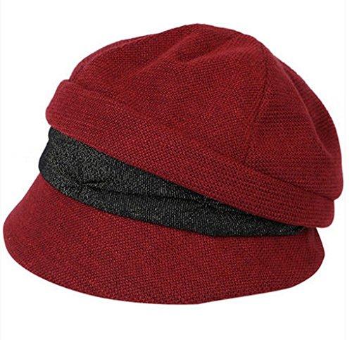 Bonnet d'automne et d'hiver Femmes Loisirs Bérets Casquettes de mode pour femmes Casquettes de mode pour femmes Casquettes de pêcheurs ( couleur : # 6 ) 7#
