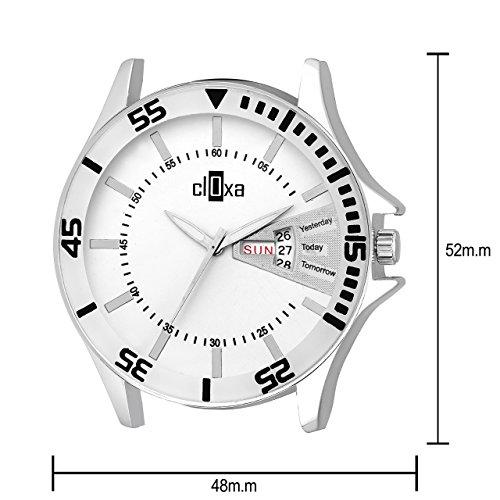Cloxa Analogue White Dial Men's Watch - CD106