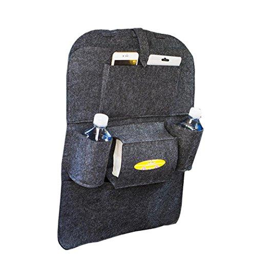 Preisvergleich Produktbild Coolster Auto Auto Sitz Rücken Aufbewahrungsbeutel Multi-Pocket Organizer Halter Aufhänger Taschen (dunkelgrau)