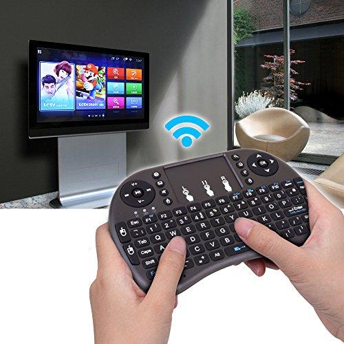 kuman Mini Wireless Keyboard, 2 4G Mini Wireless Touchpad Mouse