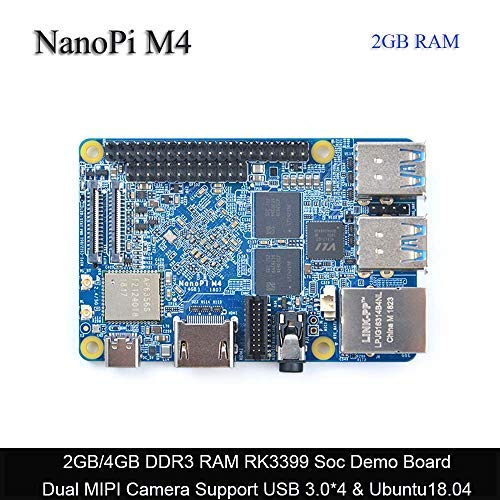 FriendlyARM NanoPi M4 2GB DDR3 Rockchip RK3399 SoC 2 4G & 5G Dual-Band  WiFi,Support Android and Ubuntu, AI and deep Learning,Ship with OV13850  Camera