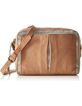 PIECES Damen Pcjace Leather Cross Over Bag Schultertasche, 5x15x21 cm