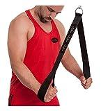 C.P. Sports 38767 Sangles Extra avec poignées, pour exercices de traction, Noir, Taille unique
