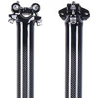 LRG - Tija de Carbono para sillín de Bicicleta 27/30,8/31,6 x 350/400 mm, Color Glossy, tamaño 27.2X350