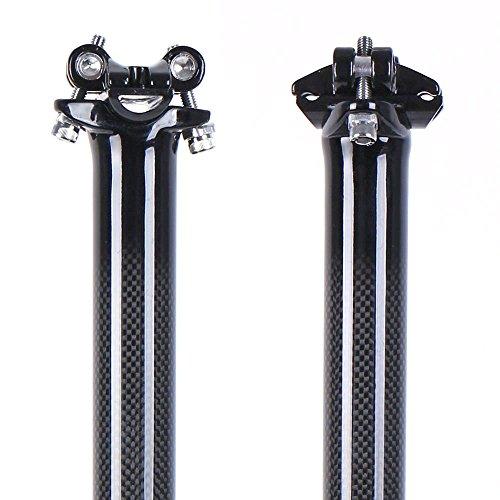 Tija de carbono para sillín de bicicleta, de LRG (27/31/32 x 350/400 mm), color glossy, tamaño 27.2X400