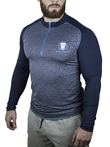 Urban Lifters Athlete Fit 1/4 Zip Long Sleeve Shirt. Performance top perfect for Gym, Cross Training, Bodybuilding, Circuits, Yoga, Pilates, Cycling and all outdoor activities. Perfect for Men and Woman. (M)
