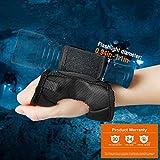 Odepro Tauchtaschenlampe Handschuh Freisprech-Taschenlampenhalter Universal Verstellbarer...