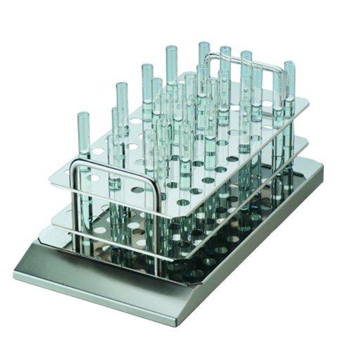 Thermo Scientific 50087957eLED variomag Edelstahl Test Tube Rack für 20mm Rohren mit variomag Tauchpumpe TELESYSTEM Multi magnetisch Rührstäbchen