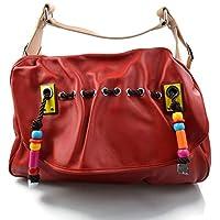 6c7280a116f3 Sacoche cuir femme sacoche rouge de cuir sac d èpaule sac femme sacoche  besace bandoulière