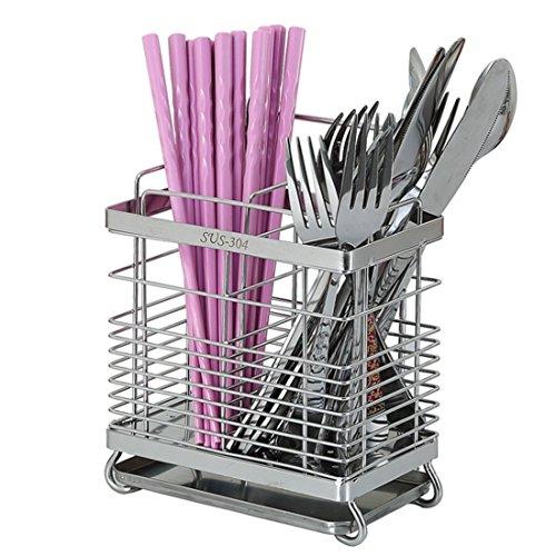 vancore Küche Utensilienhalter 304Edelstahl Abtropfgestell für Besteck Spülbecken Utensil Caddy