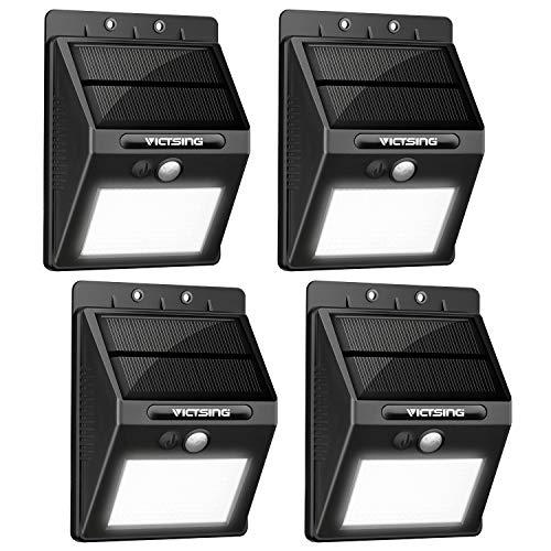 VicTsing Luz de solar LED/foco LED con Sensor de Movimiento de 400lm 20 LEDs 4 Packs