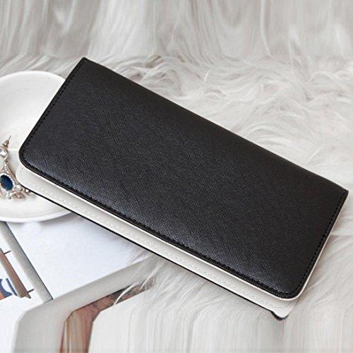 Amlaiworld 2017 Wallet Donna ragazze carino Fashion Coin portafoglio borsa Key Holder (Viola) Nero