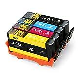 IKONG 364XL Compatible Cartouche HP 364 HP 364 XL, Haut Rendement, Travailler avec HP...