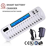 Chargeurs de piles Ni-MH /Ni-Cd,Certificated Chargeur de Pile Rechargeable LCD Intelligent chargeur...