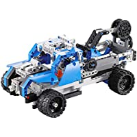 YIKESHU 1:16 DIY Building Block high Speed Rc Cars,Remote Control 2 Channels Car Dump Truck Racing Car Construction Bricks Model Science Educational EnlightenmentToys (Hercules)