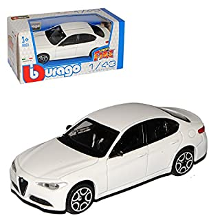 alles-meine.de GmbH Alfa Romeo Giulia Typ 952 Limousine Weiss Neueste Generation Ab 2016 1/43 Bburago Modell Auto