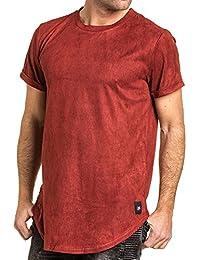 Sixth June - Tee shirt bordeaux effet daim homme oversize