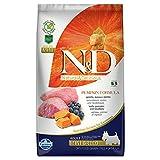 Farmina N&D Getreidefrei Adult Mini Kürbis, Lamm & Heidelbeere für erwachsene Hunde kleiner Rassen - Komplettfuttermittel., Kilogramm:2.5 kg