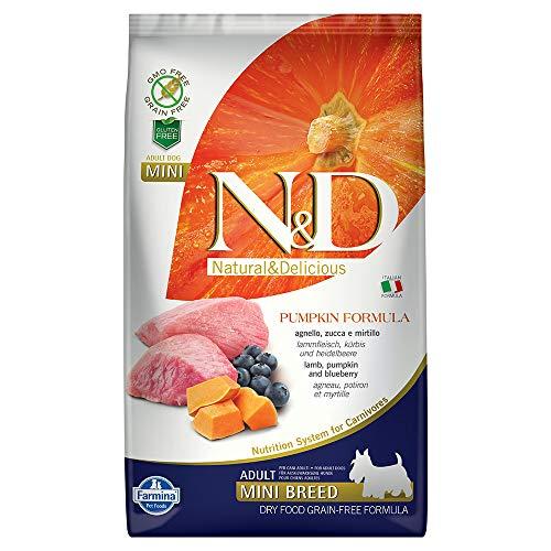Farmina N&D Getreidefrei Adult Mini Kürbis, Lamm & Heidelbeere für erwachsene Hunde kleiner Rassen - Komplettfuttermittel., Kilogramm:2.5 kg -