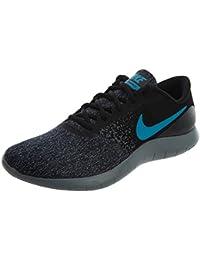 NIKE Mens Flex Contact Running Shoes (9.5 Black/Neo Turq-Dark Grey-Cool Grey)