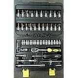 "Hawk Mega Drive Socket Set, 46Pcs Spanner Socket Set 1/4"" Car Repair Tool Ratchet Wrench Set Hand Tool"