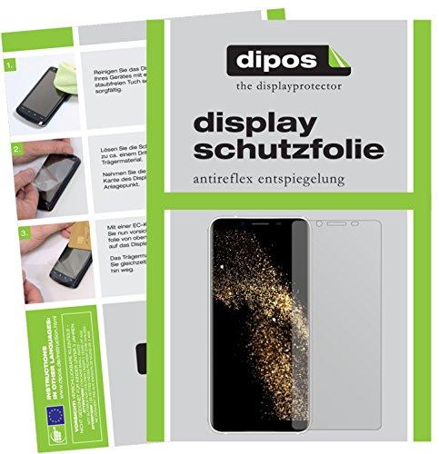 dipos I 2X Schutzfolie matt passend für HOMTOM S8 Folie Displayschutzfolie