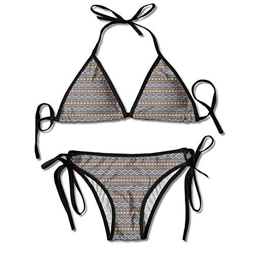 e38a265b0342 Halter Fashion Sexy Bikini,Triangles and Chevron Native Sexy Bikini 2 Pieces