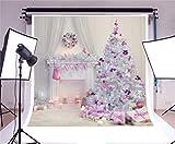 YongFoto 1,5x1,5m Foto Hintergrund Weihnachten Vinyl Weihnachtsdekoration Weihnachtsbaumschmuck Kamin Kerzen Girlande Vorhang Fotografie Hintergrund Foto Leinwand Kinder Fotostudio 5x5ft