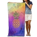 HaiYI-ltd Creative Pineapple Right Down Beach Towel Best For Yoga Super Absorbent Bath
