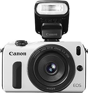Canon M + EF-M 22mm + 90EX Appareil Photo Numérique Compact 18 Mpix Blanc
