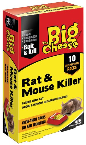 APPAT POUR TUER RATS ET SOURIS PAR THE BIG CHEESE, 400g (10x40g) - TRES BONNE VALEUR POUR L'ARGENT