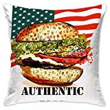Deglogse American Hamburger Fast Food Personalized Premium Novelty Pillowcases Covers